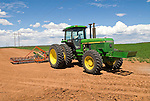 1990 John Deere 4555 tractor in field