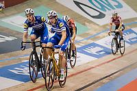 Elia Viviani (ITA/Deceuninck-QuickStep) & Iljo Keisse (BEL/Deceuninck-QuickStep)<br /> <br /> Lotto 6daagse Vlaanderen-Gent 2018 / Gent6<br /> day 5
