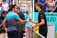 Argentine Leonardo Mayer and German Alexander Zverev during Mutua Madrid Open 2018 at Caja Magica in Madrid, Spain. May 10, 2018. (ALTERPHOTOS/Borja B.Hojas) /NORTEPHOTOMEXICO