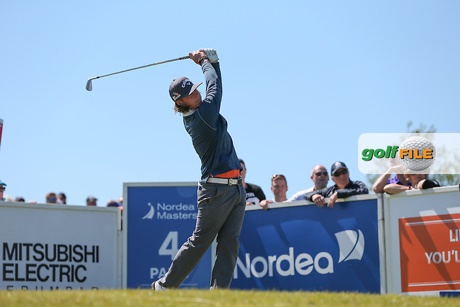Kristoffer Broberg (SWE) plays down the 4th during Round Two of the 2015 Nordea Masters at the PGA Sweden National, Bara, Malmo, Sweden. 05/06/2015. Picture David Lloyd | www.golffile.ie