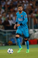 Barcellona'sGerard Pique during the Champions League Group E soccer match   at the Olympic Stadium in Rome September 16, 2015