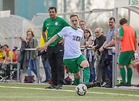 Maximilian Rogler (SV St Stephan) im Blick von Trainer Ali Talib - 31.03.2019: SV St Stephan Griesheim vs. SV 07 Geinsheim, Kreisoberliga Darmstadt/Gross-Gerau