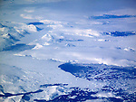 View of Greenland during a flyover in the spring of 2009.<br />