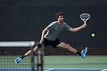 Yuval Solomon of the Wake Forest Demon Deacons in action during the match against the Florida Gators at #6 singles at the Wake Forest Tennis Center on March 30, 2018 in Winston-Salem, North Carolina.  The Gators defeated the Demon Deacons 4-3.  (Brian Westerholt/Sports On Film)