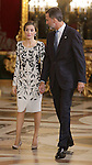 King Felipe VI of Spain and Queen Letizia of Spain attend the National Day acts. October 12 ,2016. (ALTERPHOTOS/Pool)