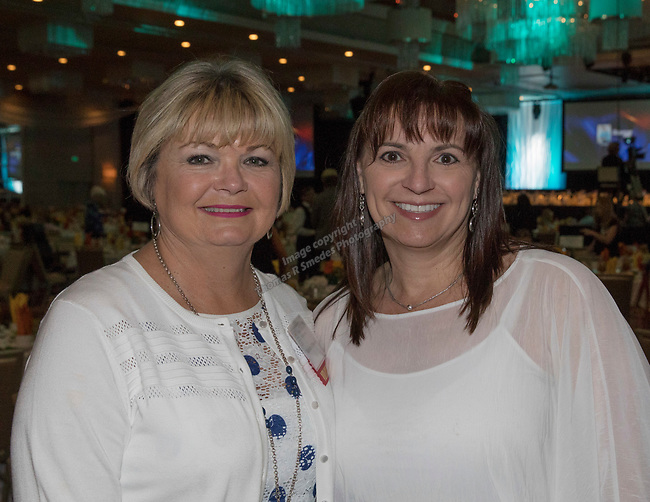 Richelle O'Driscoll and Shae Freitas during the 26th Annual Salute to Women of Achievement Luncheon held at the Grand Sierra Resort on Thursday, May 25, 2017.