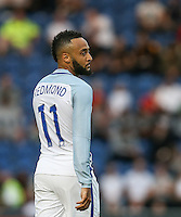 Nathan Redmond (Southampton) of England during the International EURO U21 QUALIFYING - GROUP 9 match between England U21 and Norway U21 at the Weston Homes Community Stadium, Colchester, England on 6 September 2016. Photo by Andy Rowland / PRiME Media Images.