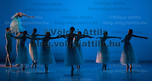 Members of the Hungarian National Ballet present the Balanchine Ballet Night in the Opera House.