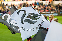 Swansea Guard of Honour flags  during the Premier League match between Swansea City and Manchester United at The Liberty Stadium, Swansea, Wales, UK. SUnday 06 November 2016.