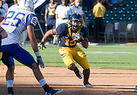 September 17, 2011:  California's Mike Manuel rushes through the line of scrimmage during a game against Presbyterian Football at AT&T Park, San Francisco, Ca    California Defeated Presbyterian 63 - 12