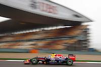 SHANGAI, CHINA, 19.04.2014 - GP DA CHINA - TREINO CLASSIFICATORIO - O piloto alemao Sebastian Vettel da equipe Red Bull durante o treino classificatório para o Grande Prêmio da China de Fórmula 1 no Circuito Internacional de Xangai, neste sábado(19). Hamilton ficou com a pole position com o tempo de 1min53s860 (Foto: Pixathlon / Brazil Photo Press).