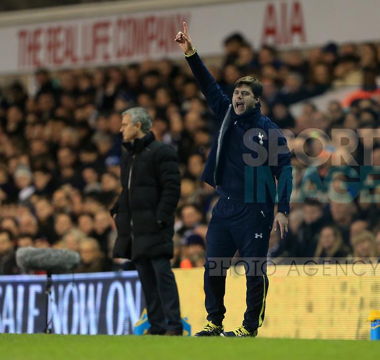 Tottenham's Mauricio Pochettino celebrates his sides fifth<br /> <br /> Barclays Premier League - Tottenham Hotspur vs Chelsea - White Hart Lane  - England - 1st January 2015 - Picture David Klein/Sportimage