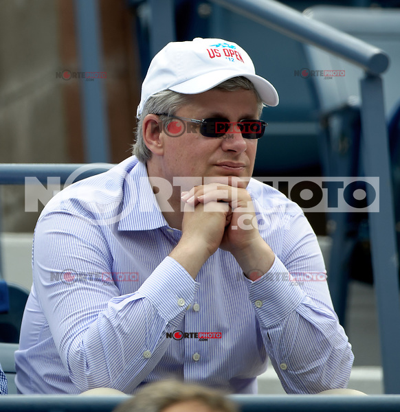 September 2, 2012: Canadian Prime Minister Stephen Harper attends Day 7 of the 2012 U.S. Open Tennis Championships at the USTA Billie Jean King National Tennis Center in Flushing, Queens, New York, USA. © mpi105/MediaPunch Inc. /NortePhoto.com<br /> <br /> **CREDITO*OBLIGATORIO** <br /> *No*Venta*A*Terceros*<br /> *No*Sale*So*third*<br /> *** No*Se*Permite*Hacer*Archivo**<br /> *No*Sale*So*third*