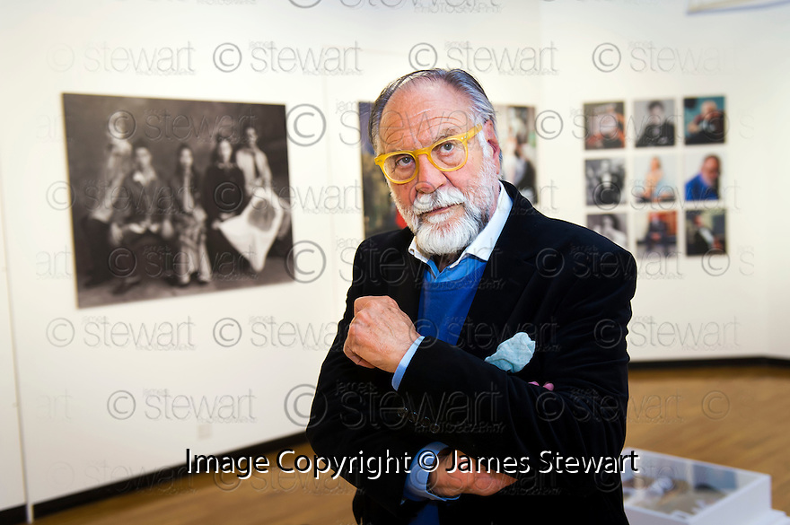 Legendary fashion photographer and film-maker Fabrizio Gianni at his exhibition at The Park Gallery at Callendar House.