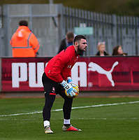 Lincoln City's Grant Smith during the pre-match warm-up<br /> <br /> Photographer Andrew Vaughan/CameraSport<br /> <br /> The EFL Sky Bet League Two - Cambridge United v Lincoln City - Saturday 29th December 2018  - Abbey Stadium - Cambridge<br /> <br /> World Copyright © 2018 CameraSport. All rights reserved. 43 Linden Ave. Countesthorpe. Leicester. England. LE8 5PG - Tel: +44 (0) 116 277 4147 - admin@camerasport.com - www.camerasport.com