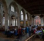 Inside church of Saint Thomas, Salisbury, Wiltshire, England, UK