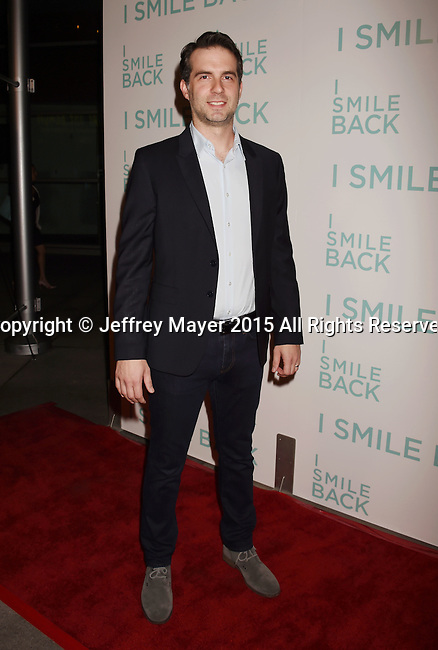 HOLLYWOOD, CA - OCTOBER 21:  Composer Zack Ryan arrives at the premiere of Broad Green Pictures' 'I Smile Back' at ArcLight Cinemas on October 21, 2015 in Hollywood, California.