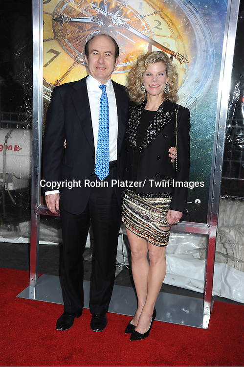 """Philippe Dauman and wife Deborah attend The World Premiere of """"Hugo in 3D"""" on November 21, 2011 at The Ziegfeld Theatre in New York City."""