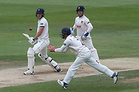 Ryan ten Doeschate fields the ball as Yorkshire batsman Matthew Fisher pads it up during Essex CCC vs Yorkshire CCC, Specsavers County Championship Division 1 Cricket at The Cloudfm County Ground on 9th July 2019