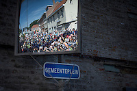 busy Town Square (&quot;Gemeenteplein&quot;)<br /> <br /> 55th Vlaamse Druivenkoers 2015