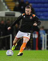 Blackpool's Oliver Turton during the pre-match warm-up <br /> <br /> Photographer Kevin Barnes/CameraSport<br /> <br /> The EFL Sky Bet League One - Bolton Wanderers v Blackpool - Monday 7th October 2019 - University of Bolton Stadium - Bolton<br /> <br /> World Copyright © 2019 CameraSport. All rights reserved. 43 Linden Ave. Countesthorpe. Leicester. England. LE8 5PG - Tel: +44 (0) 116 277 4147 - admin@camerasport.com - www.camerasport.com