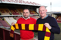 Bradford City's new Manager Simon Grayson and Bradford City Chairman Edin Rahic during Press Conference at the Northern Commercial Stadium, Bradford, England on 15 February 2018. Photo by Thomas Gadd.