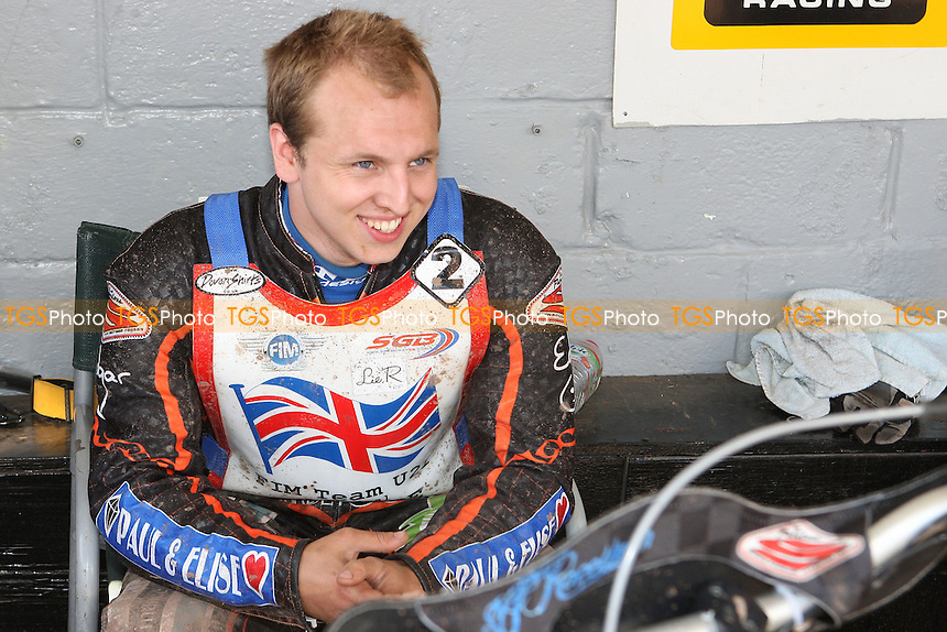 Joe Haines (GB) in the pits - FIM Speedway World Under-21 Team Cup Semi Final at Arena Essex Raceway, Purfleet - 27/05/12 - MANDATORY CREDIT: Gavin Ellis/TGSPHOTO - Self billing applies where appropriate - 0845 094 6026 - contact@tgsphoto.co.uk - NO UNPAID USE.