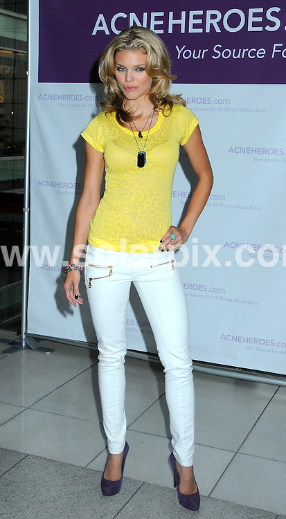 **ALL ROUND PICTURES FROM SOLARPIX.COM**.**SYNDICATION RIGHTS FOR UK, AUSTRALIA, DENMARK, PORTUGAL, S. AFRICA, SPAIN & DUBAI (U.A.E) ONLY**.AnnaLynne McCord Introduces AcneHeroes.com Acne Action Plan at Columbus Circle in New York City, NY, USA. 13 August 2009..This pic: AnnaLynne McCord..JOB REF: 9758 PHZ (Mayer)  DATE: 13_08_2009.**MUST CREDIT SOLARPIX.COM OR DOUBLE FEE WILL BE CHARGED**.**MUST NOTIFY SOLARPIX OF ONLINE USAGE**.**CALL US ON: +34 952 811 768 or LOW RATE FROM UK 0844 617 7637**