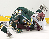 Andy Corran, Benn Ferreiro - The Boston College Eagles completed a shutout sweep of the University of Vermont Catamounts on Saturday, January 21, 2006 by defeating Vermont 3-0 at Conte Forum in Chestnut Hill, MA.