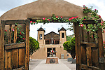 El Santuario de Chimayo, a Roman catholic church built in 1816 in Chimayo, New Mexico near Santa Fe.