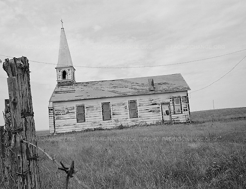 Manderson, South Dakota<br /> July 30, 2011<br /> <br /> An abandoned church on the Pine Ridge Indian Reservation in South Dakota.