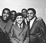 Four Tops and Johnny Rivers 1967 Lawrence Payton, Levi Stubbs, Johnny Rivers, Abdul Duke Fakir and Renaldo Obie Benson..