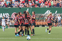 Portland, Oregon - Sunday August 11, 2019: Portland Thorns v North Carolina Courage at Providence Park