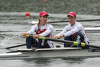 Lucerne, SWITZERLAND<br /> <br /> RUS W2-. 2016 European Olympic Qualifying Regatta, Lake Rotsee.<br /> <br /> Monday  23/05/2016<br /> <br /> [Mandatory Credit; Peter SPURRIER/Intersport-images]