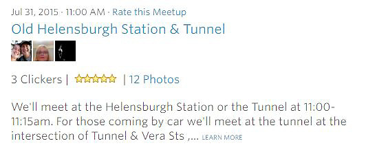 Workshop: We'll meet at the Helensburgh Station or the Tunnel at 11:00-11:15am. For those coming by car we'll meet at the tunnel at the intersection of Tunnel &amp; Vera Sts ,... LEARN MORE<br />