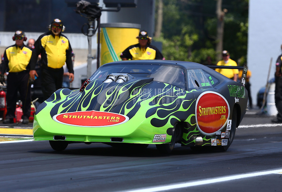 Jun. 2, 2013; Englishtown, NJ, USA: NHRA pro mod driver Chip King during the Summer Nationals at Raceway Park. Mandatory Credit: Mark J. Rebilas-
