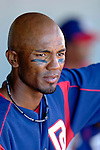 15 March 2006: Damian Jackson, infielder for the Washington Nationals, sits in the dugout during a Spring Training game against the New York Mets. The Mets defeated the Nationals 8-5 at Space Coast Stadium, in Viera, Florida...Mandatory Photo Credit: Ed Wolfstein..