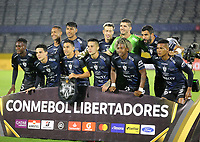 QUITO-ECUADOR, 11-03-2020: Jugadores de Independiente del Valle, posan para una foto, durante partido de la fase de grupos, grupo A, fecha 2, entre Independiente del Valle (ECU) y Atletico Junior (COL) por la Copa Conmebol Libertadores 2020, en el estadio Olimpico Atahualpa, de la ciudad Quito. / Players of Independiente del Valle, pose for a photo, during a match of the groups phase, group A, 2nd date, between Independiente del Valle (ECU) and Atletico Junior (COL) for the Conmebol Libertadores Cup 2020, at the Olimpico Atahualpa in Quito. / Photo: VizzorImage / Steven Silva / PressSouth / Cont.