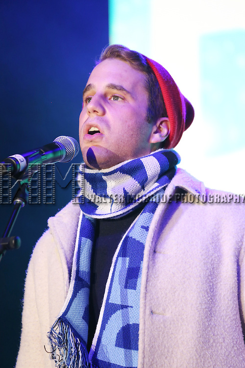 Ben Platt from the new Broadway Musical 'Dear Evan Hansen' perform during the 2016 Bloomingdale's Holiday Concert at Beacon Court on November 21, 2016 in New York City.