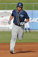 The Mobile BayBears catcher Josh Ford #30 in his homerun trot during  game four of the Southern League Championship Series between the Mobile Bay Bears and the Tennessee Smokies at Smokies Park on September 18, 2011 in Kodak, Tennessee.  The BayBears won the Southern League Championship 6-4.  (Tony Farlow/Four Seam Images)