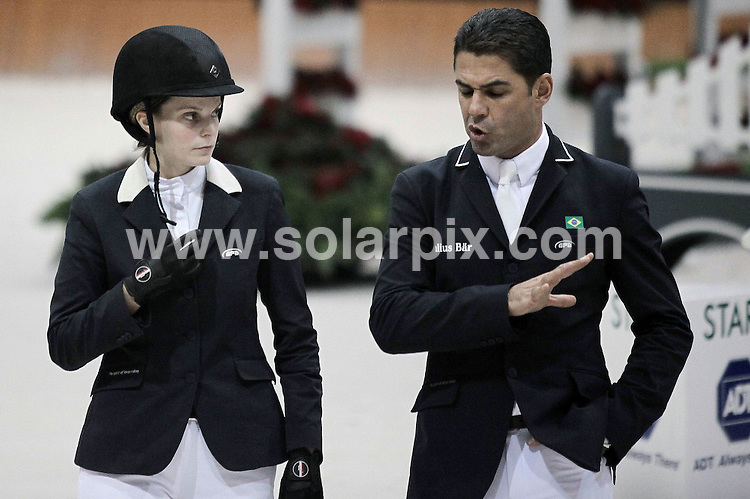 **ALL ROUND PICTURES FROM SOLARPIX.COM**                                             **WORLDWIDE SYNDICATION RIGHTS EXCEPT SPAIN - NO SYNDICATION IN SPAIN**                                                                                  Caption: Atina Onasis and her husband Alvaro Alfonso de Miranda Neto at the CSI. Casas Novas international show-jumping contest in La Coruna, Spain                                                                              This pic: Atina Onasis & Alvaro Neto                                                                                             JOB REF:14309        Mmp      DATE:16.12.2011                                                            **MUST CREDIT SOLARPIX.COM OR DOUBLE FEE WILL BE CHARGED**                                                                      **MUST AGREE FEE BEFORE ONLINE USAGE**                               **CALL US ON: +34 952 811 768 or LOW RATE FROM UK 0844 617 7637**