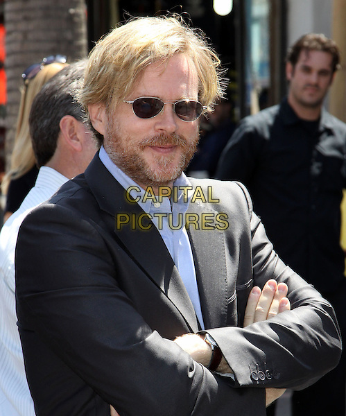 CARY ELWES .Mel Brooks is honoured with the 2406th star on the Hollywood Walk of Fame held On Hollywood Blvd., Hollywood, California, USA, 23 April 2010..half length arms crossed folded sunglasses beard facial hair blue shirt suit jacket .CAP/ADM/KB.©Kevan Brooks/Admedia/Capital Pictures