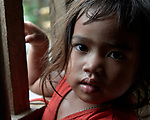 A girl in Santa Ines, an indigenous village in the Philippines.