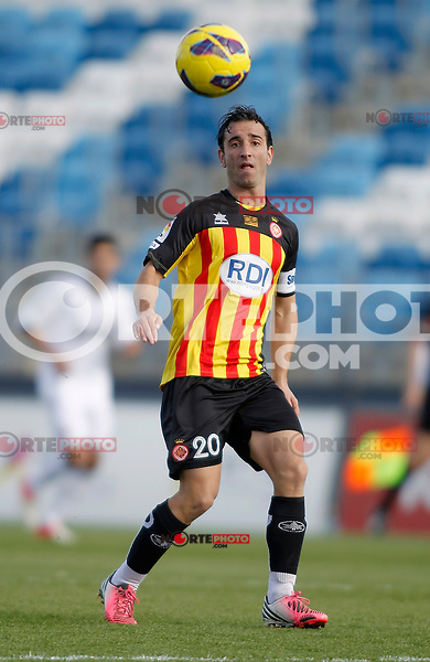 Girona's Alejandro Casto Jandro during La Liga match. January 13, 2013. (ALTERPHOTOS/Alvaro Hernandez)