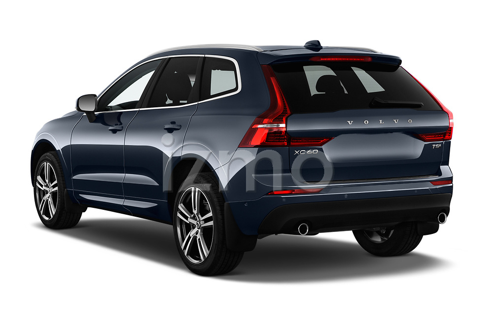 Car pictures of rear three quarter view of a 2018 Volvo XC60 T5 Momentum 4WD 5 Door SUV angular rear