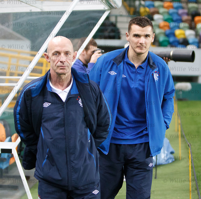 Lee McCulloch with club doctor Paul Jackson