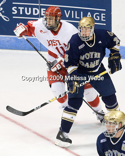 Zach Cohen (BU - 11), Sean Lorenz (Notre Dame - 24) - The University of Notre Dame Fighting Irish defeated the Boston University Terriers 3-0 on Tuesday, October 20, 2009, at Agganis Arena in Boston, Massachusetts.
