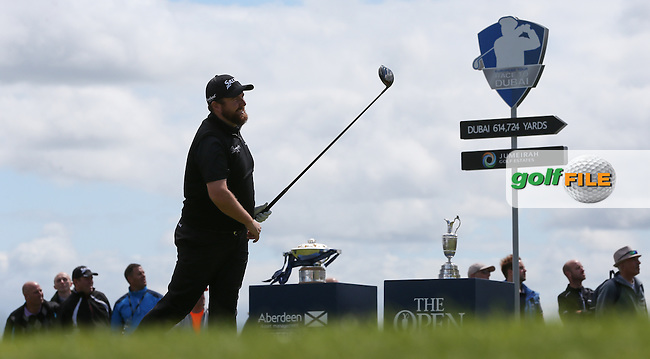 Shane Lowry (IRL) starts the Final Round of the 2015 Aberdeen Asset Management Scottish Open, played at Gullane Golf Club, Gullane, East Lothian, Scotland. /12/07/2015/. Picture: Golffile | David Lloyd<br /> <br /> All photos usage must carry mandatory copyright credit (&copy; Golffile | David Lloyd)