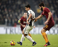 Calcio, Serie A: Juventus vs Roma. Torino, Juventus Stadium,17 dicembre 2016. <br /> Juventus&rsquo; Sami Khedira, left, is challenged by Roma&rsquo;s Federico Fazio during the Italian Serie A football match between Juventus and Roma at Turin's Juventus Stadium, 17 December 2016.<br /> UPDATE IMAGES PRESS/Isabella Bonotto