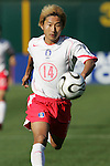 11 February 2006: Korea's Lee Chun-Soo.  The Costa Rica Men's National Team defeated South Korea 1-0 at McAfee Coliseum in Oakland, California in an International Friendly soccer match.